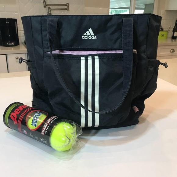 58bbf284690c adidas Handbags - Adidas athletic sport black 3 Stripes tote bag